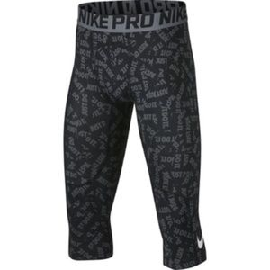Nike Pro Youth Boys Just Do It Graphic 3/4 Tight